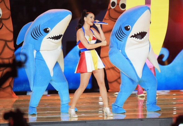 Katy Perry performs at the Pepsi Super Bowl XLIX Halftime Show - California Gurls
