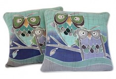 Mischievous Owls Artisan Crafted Cotton Cushion Covers