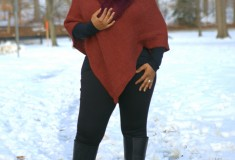 Novica Autumn Splendor Women's Alpaca Wool Poncho