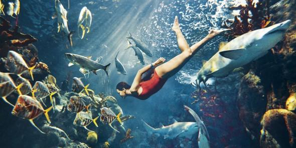 Rihanna Harper's Bazaar Mugler swimsuit
