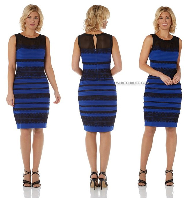 Here's Where to Buy The Dress Everyone's Talking About: Roman Women's Lace Detail Bodycon Dress Royal Blue