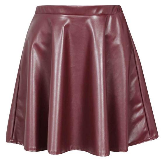 Boohoo Colette PU Skater Skirt