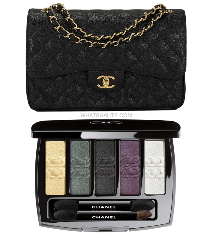 New Chanel Makeup Collection Inspired by 2.55 Bag - Chanel 2.55 Bag and L'Intemorel De Chanel Eyeshadow Palette.jpg