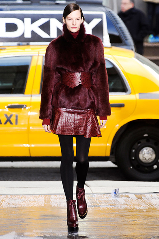 DKNY Fall 2012 wine colored fashion
