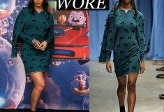 "Rihanna Wears Head-to-Toe Adam Selman to Promote ""Home"""