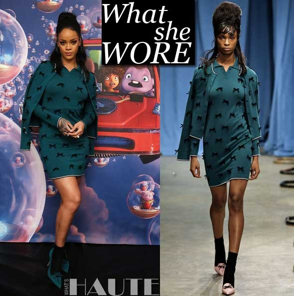 Rihanna Wears Head-to-Toe Adam Selman - What She Wore: Rihanna in Adam Selman Fall 2015