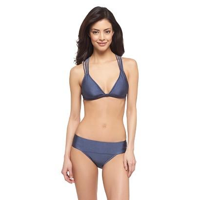 Knight Grey Strappy Back Triangle Bikini Top - Mossimo