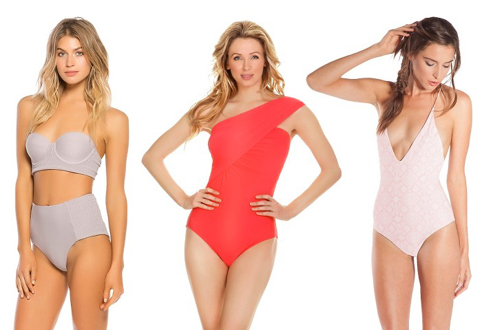 10 Swimsuits You Need This Summer - All Under $50 at Target! Women's Midi Bandeau Bikini Top and High Waist Bikini Bottom Mocha - Tori Praver Seafoam, Strappy Braided One Piece Swimsuit Vanilla Beach, One Shoulder Bandeau One Piece Aqua Green
