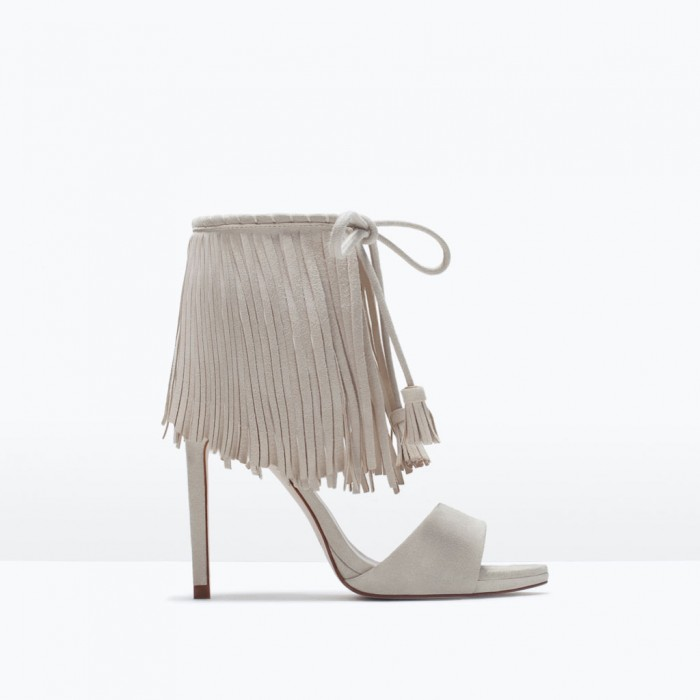 Zara Fringed high heel sandals