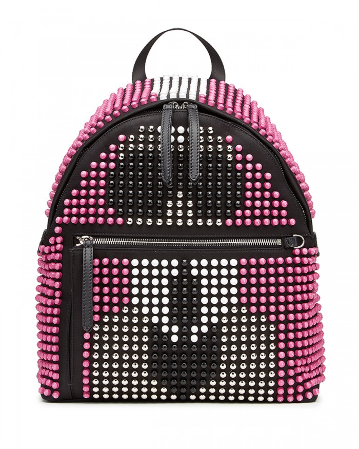 Fendi Karlito Allover Studded Backpack