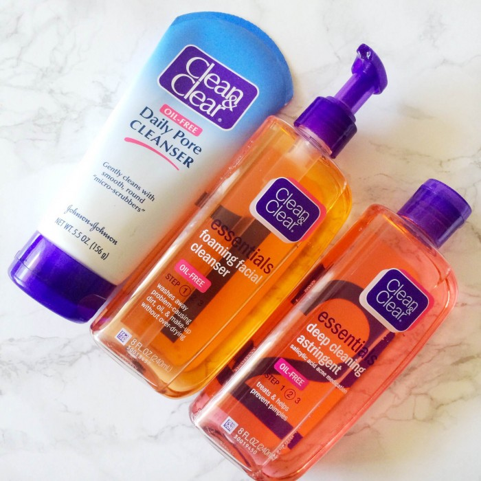 My Go-To Drugstore Skin Care Products to Combat Breakouts: Clean & Clear Foaming Facial Cleanser, Clean & Clear Daily Pore Cleanser, Clean & Clear Essentials Deep Cleaning Astringent; beauty