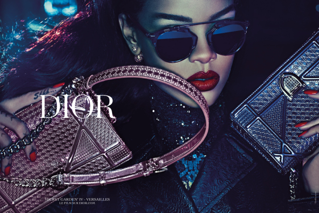 Rihanna Stuns in Christian Dior Secret Garden Campaign