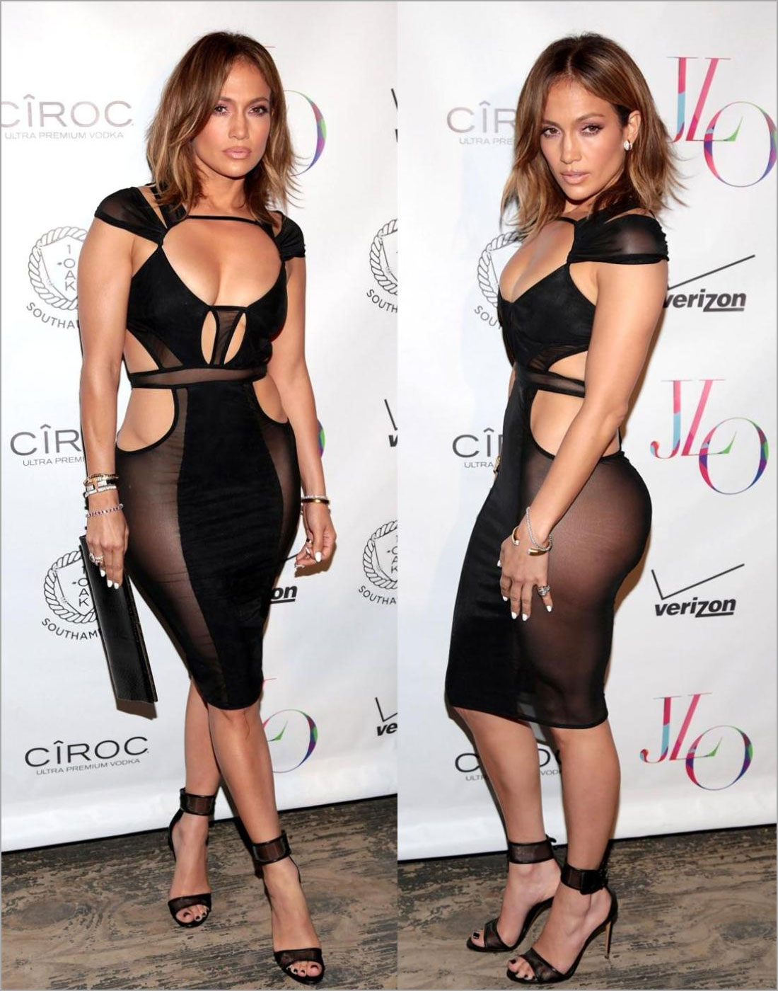 Jennifer Lopez in Bodywear  by Bao Tranchi Geometrics dress
