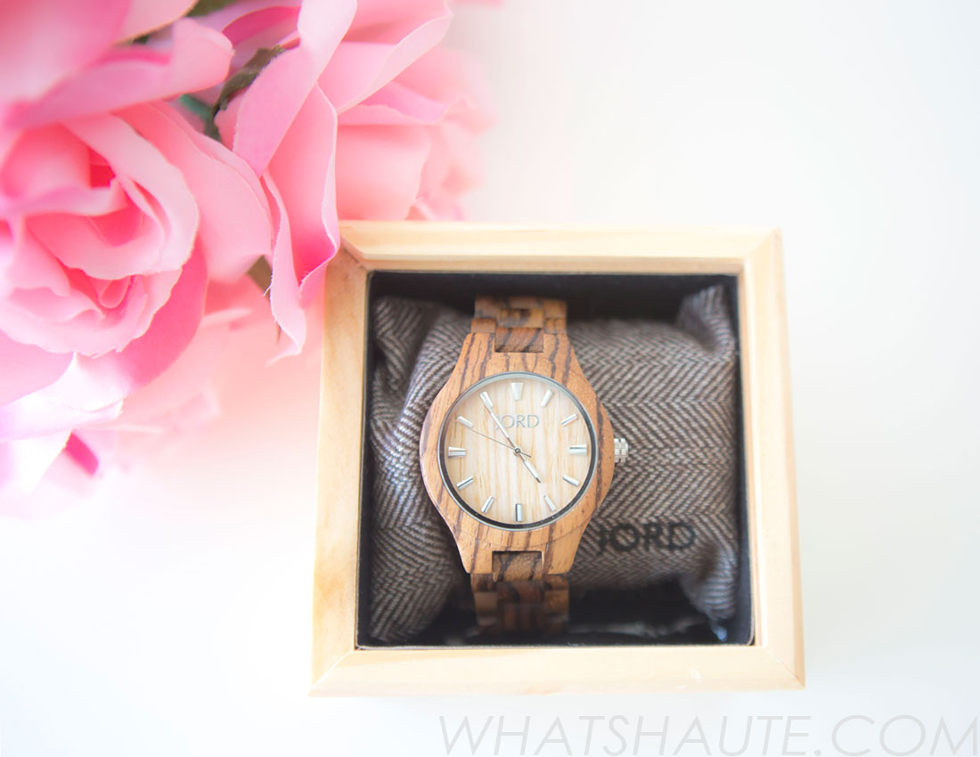 JORDWatch Fieldcrest series watch in Zebrawood & Maple - review