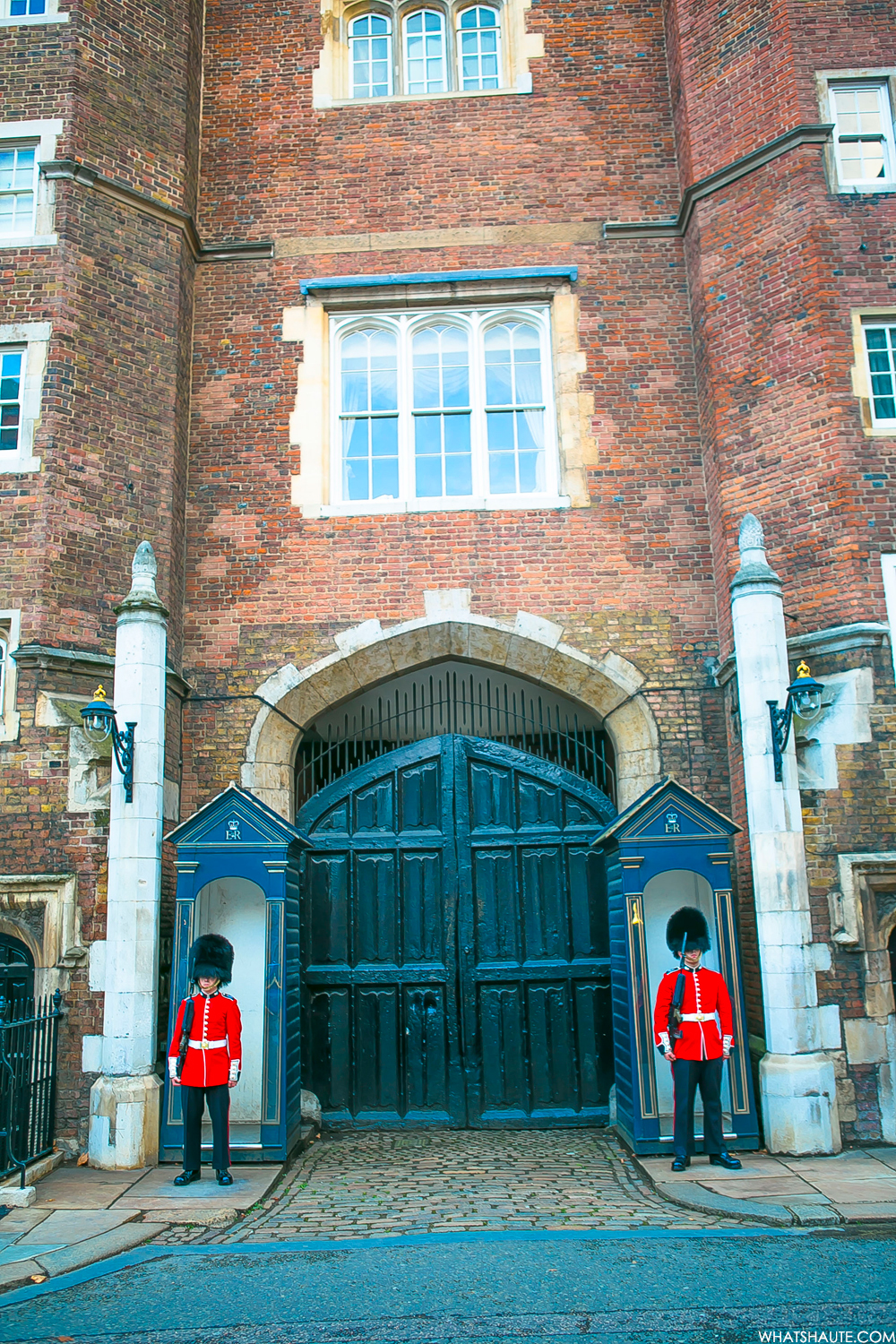 Guards boxes on Cleveland Row at St. James's Palace - London, England, What's Haute in the World