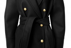 Balmain x H&M black belted coat