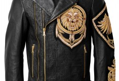 Balmain x H&M black men's moto jacket