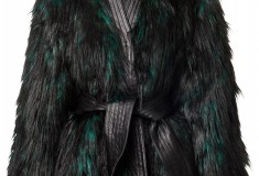 Balmain x H&M faux fur coat