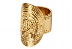 Balmain x H&M gold ring
