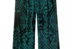 Balmain x H&M green print palazzo pants