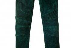 Balmain x H&M green suede moto pants