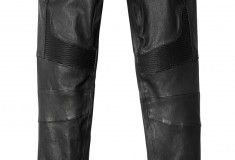 Balmain x H&M leather moto pants