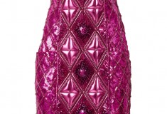 Balmain x H&M metallic pink dress