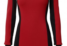 Balmain x H&M red and black dress