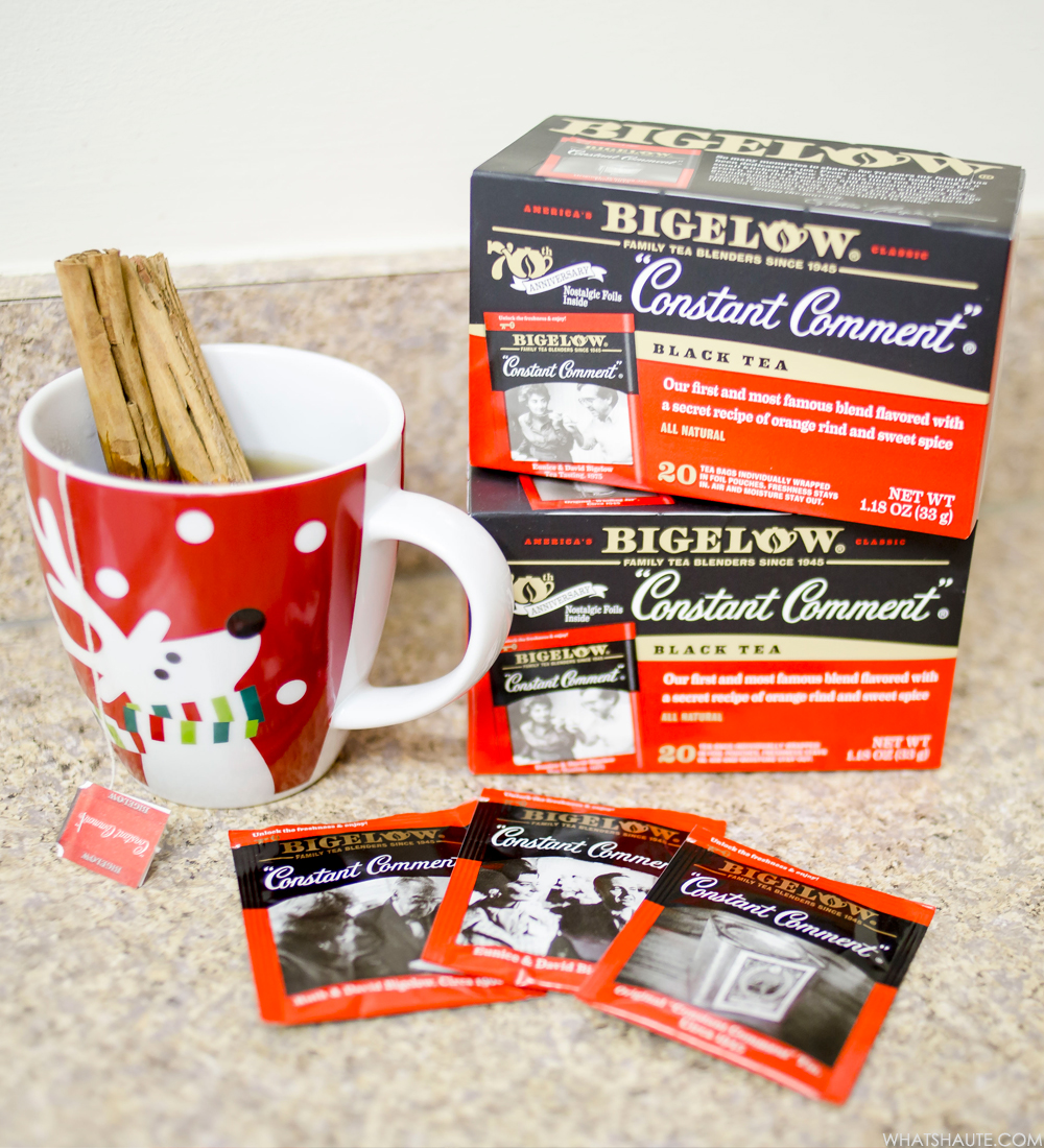 Holiday traditions with Bigelow Constant Comment tea - with cinnamon sticks