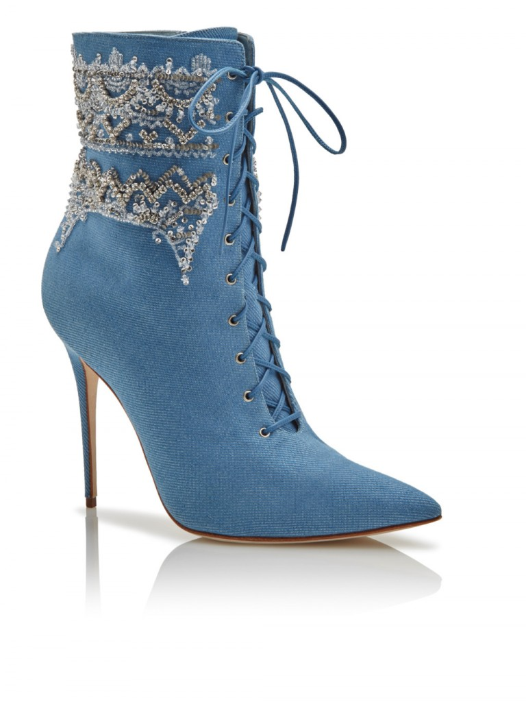 Rihanna x Manolo Blahnik Denim Desserts Collection - bootie