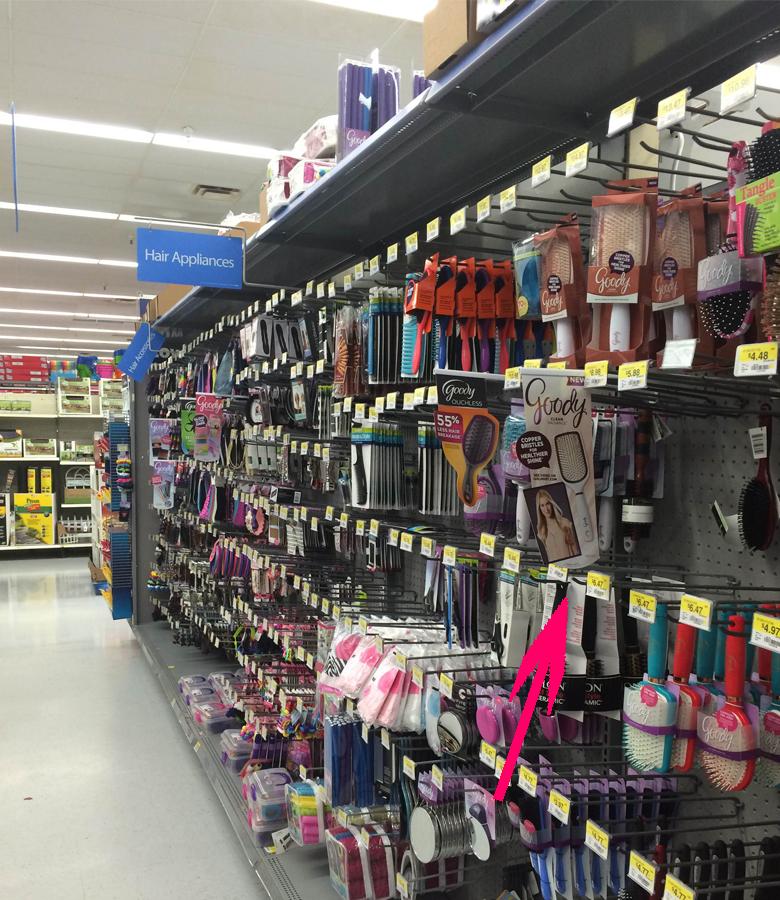 Walmart Hair Appliances aisle