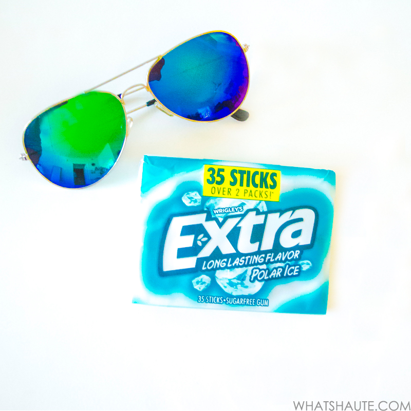 What's in my bag - Extra Polar Ice gum