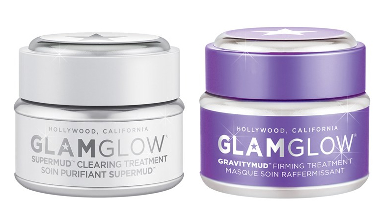 GLAMGLOW SUPERMUD Clearing Treatment & GRAVITYMUD Firming Treatment, GLAMGLOW Facial Mud Masks