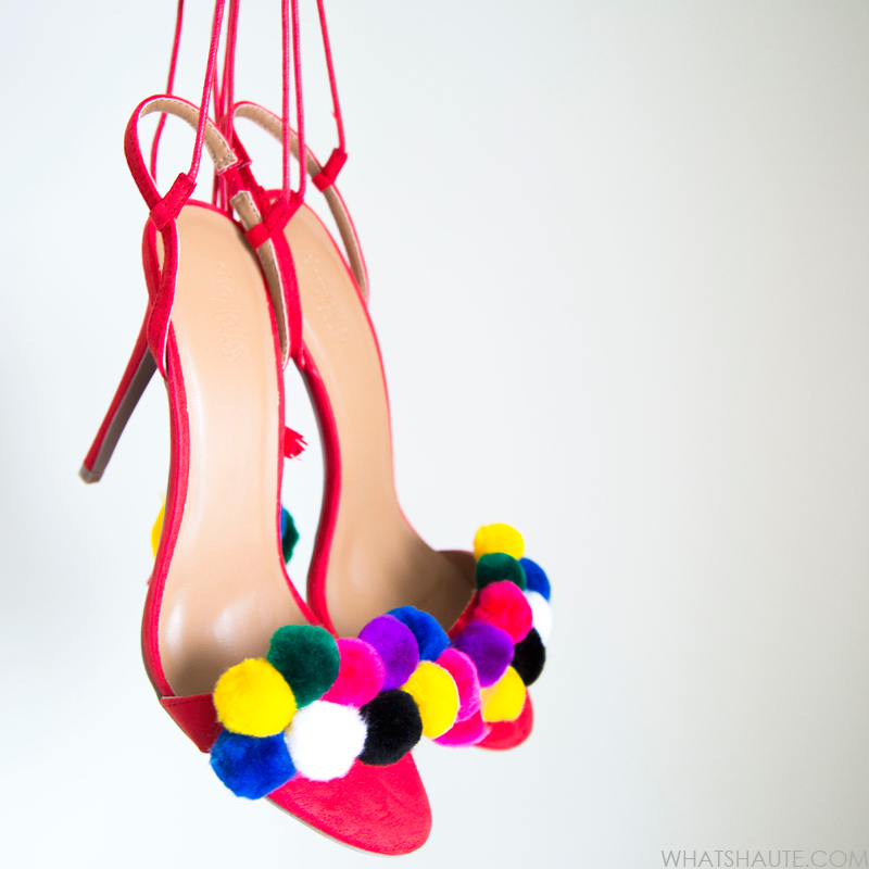 Tutorial: DIY Tassel Pom Pom Sandals - final product