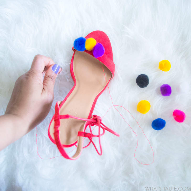 Tutorial: DIY Pom Pom Tassel Sandals