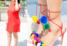 Tutorial: DIY Pom Pom Sandals