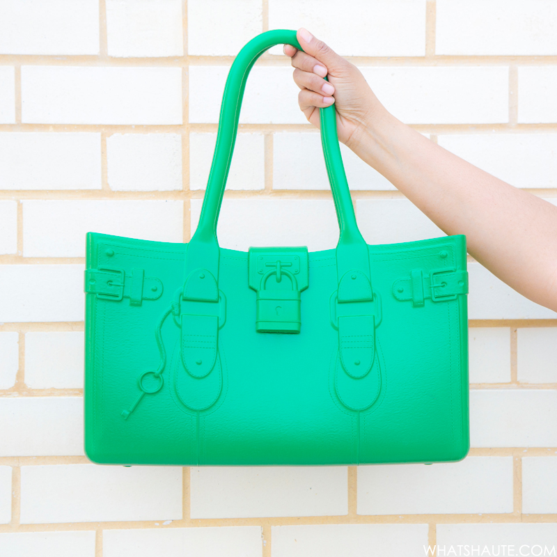 Great Bag Model M. EVA tote by Robert Verdi, Emerald (green)