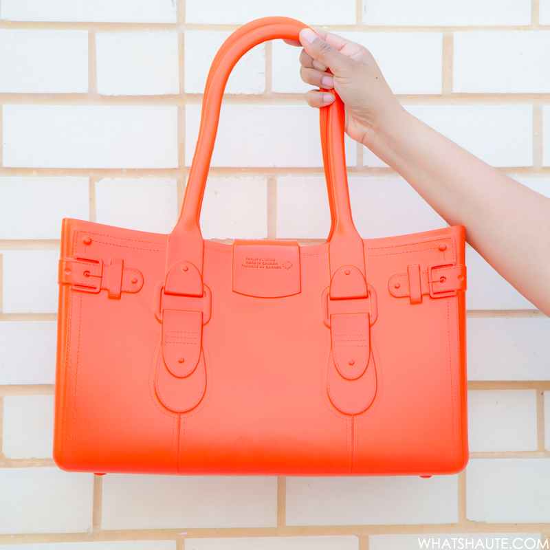 Great Bag Co. Model M. EVA tote by Robert Verdi, Topaz (orange)