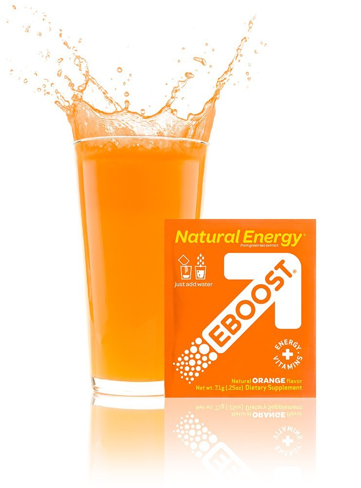 Energize Your Day with EBOOST Natural Energy Powder, Orange