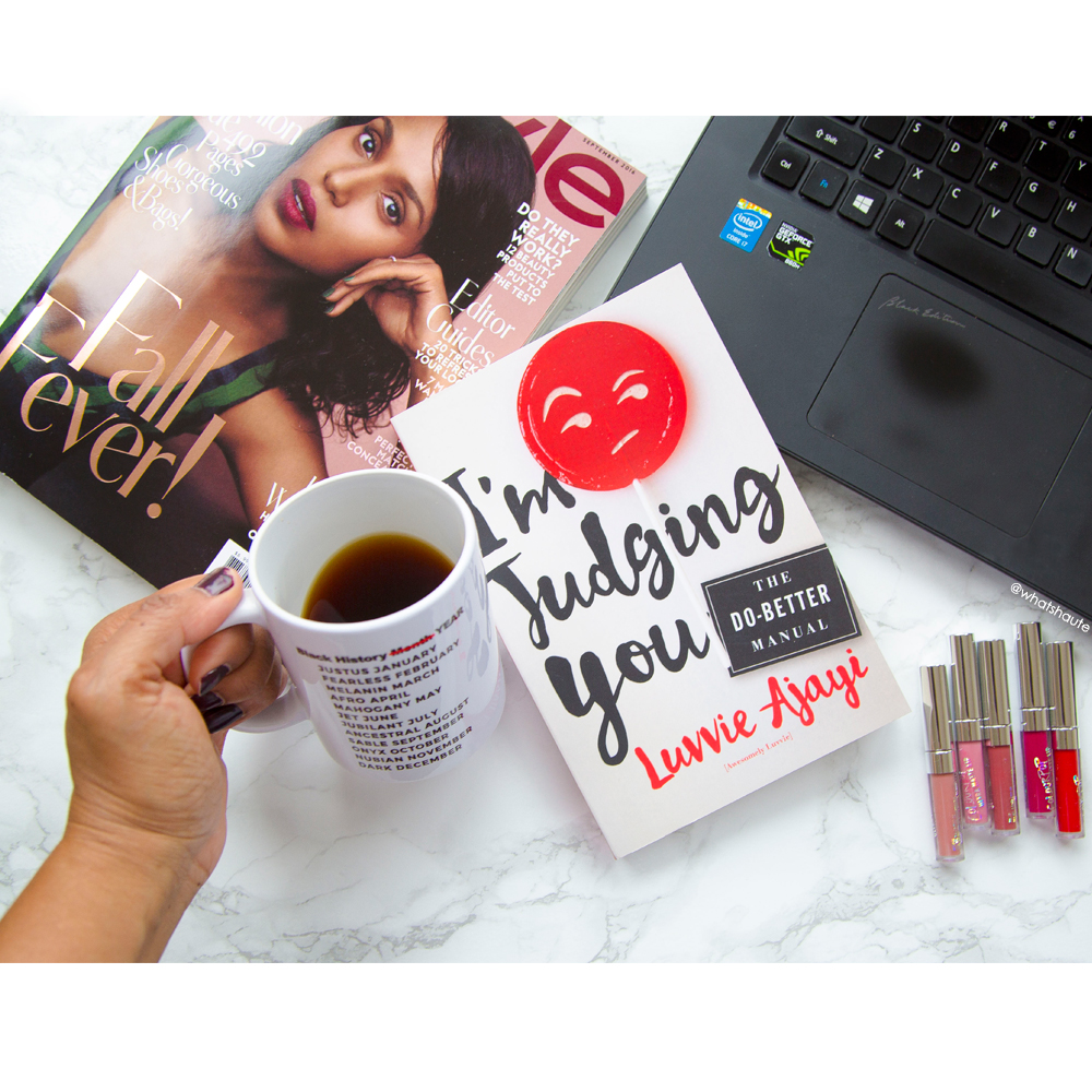 My review: I'm Judging You The Do-Better Manual by Luvvie Ajayi - flatlay