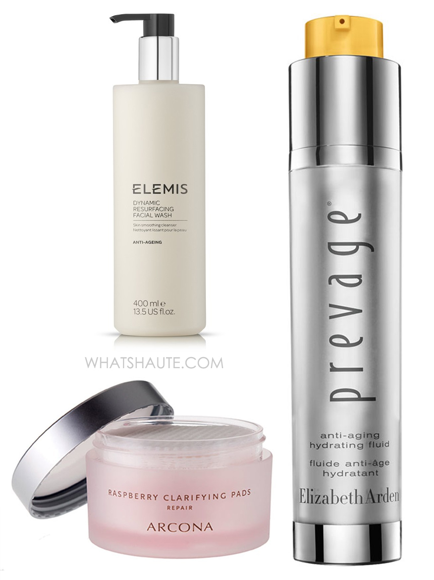 Update your Winter Skin Care Regimen with Elemis Dynamic Resurfacing Facial Wash, Arcona Triad Cranberry Toner Pads, Elizabeth Arden Prevage Anti-Aging Hydrating Fluid