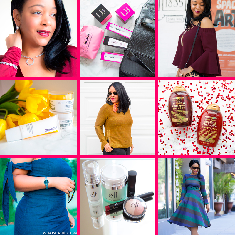 What's Haute - Thank You to My Readers and Brand Partners, for All of Your Support in 2016! JTV.com, Strivectin, Mila & Such, Lea Black Beauty, OGX, Organix, e.l.f. Cosmetics, Citizen watch, Chiwish, Topshop