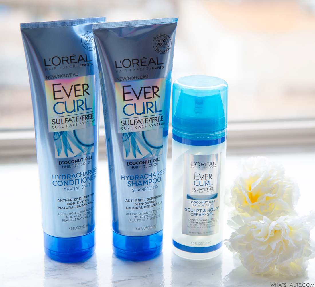L'Oréal® Paris EverCurl Hydracharge Shampoo, EverCurl Hydracharge Conditioner & EverCurl Sculpt & Hold Cream - Gel