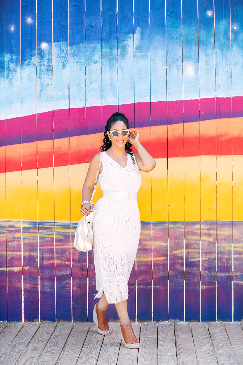 Last Call for Summer 2018: Zara Knit tank dress and belt with transparent buckle, Kenneth Cole New York Olivia Wedges, Who What Wear Striped Martha Crossbody Bag, Do Not Disturb floppy sun hat, The Beach at Pike & Rose