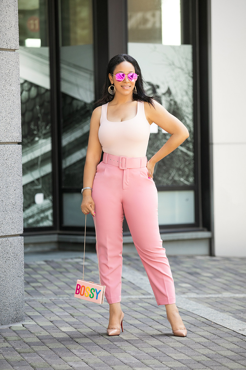 14 Girl Bosses Share Their Tips on Running a Successful Business, I'm Not Bossy - I'm the Boss, What I'm Wearing: Aldo Bossy Clutch bag, Zara tank top and high waist belted trousers, Christian Louboutin Pigalle pumps, H&M sunglasses