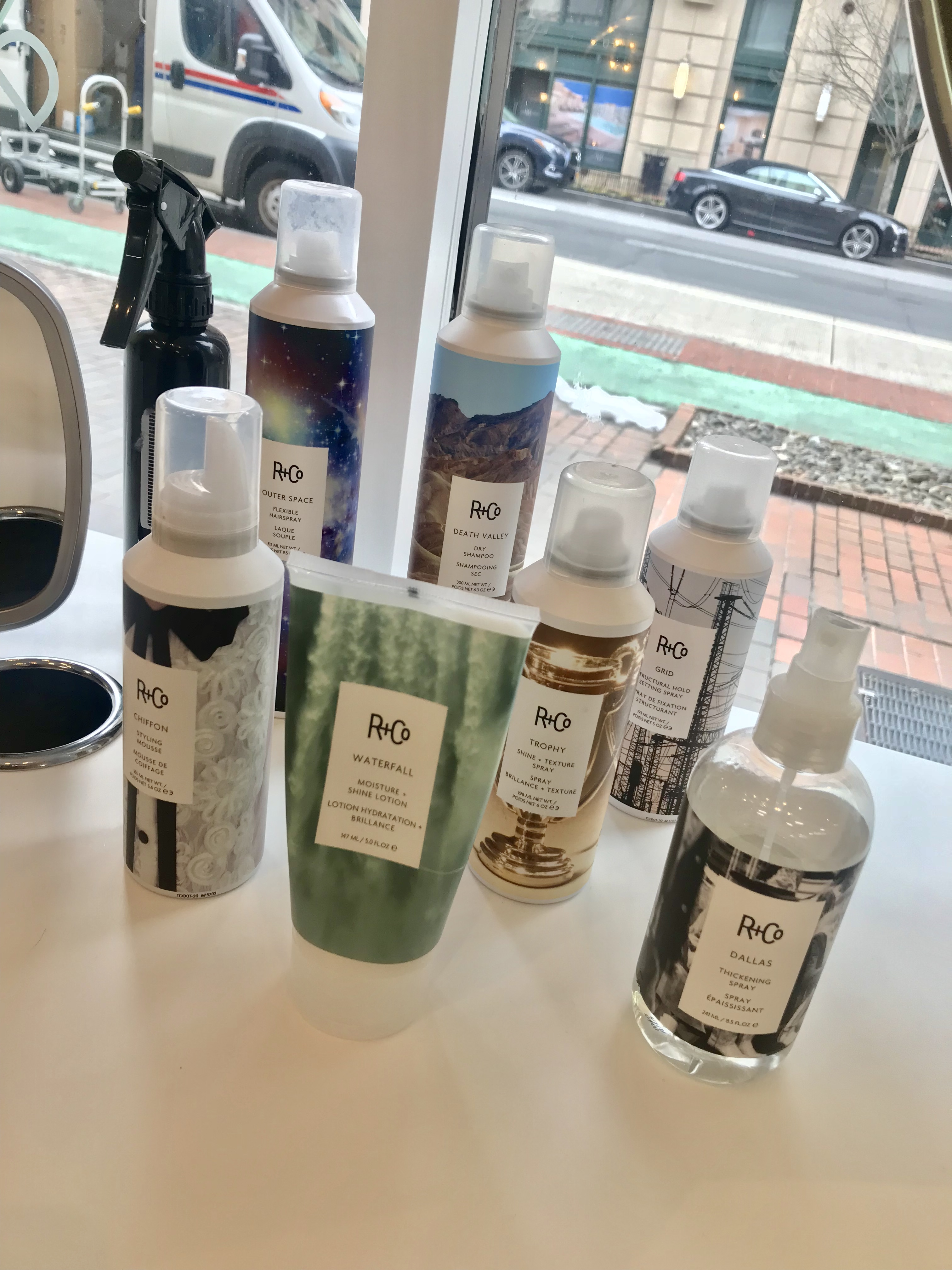 What's Haute, Glam+Go Beach Body blowout, DC blowdry bar, R+Co haircare products