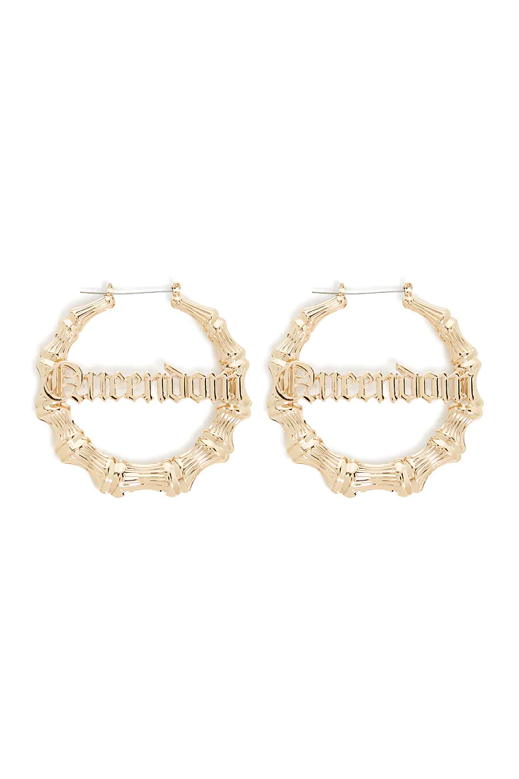 Queendom-Bamboo-Hoop-Earrings