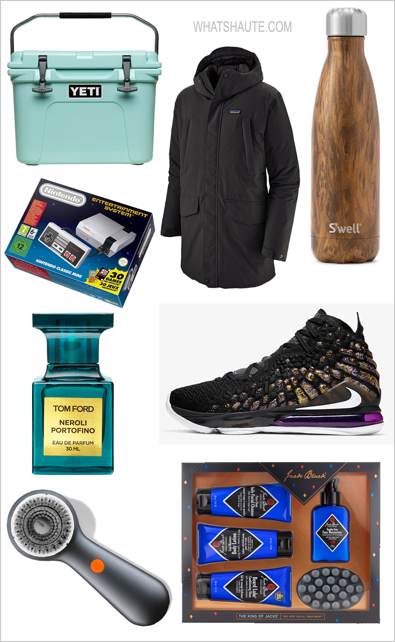 2019 Holiday Gift Guide: Gift Guide for Him, Ember Temperature Controlled Travel Mug, The King of Jacks set by Jack Black Skincare, Yeti Roadie 20 Cooler, Clarisonic Mia Men Facial Cleansing Device, Man Crates, Nike LeBron 17 Basketball Shoes, LL Bean Wicked Good Original Slipper Moccasins, Nintendo NES Classic Edition, Patagonia City Storm Down Parka, Shark Tank, Bombas Socks, Limited-edition Johnny Walker White Walker, Game of Thrones, Tom Ford Neroli Portofino Eau de Parfum, Garmin Approach S60 Golf GPS Watch, GT Men's Aggressor Pro Mountain Bike, Land's End Flagship Flannel Shirt, Panasonic ARC 5-Blade Electric Shaver, Swell water bottles, Swell's teakwood bottle, The Art of Shaving Peppermint Essential Oil Shaving Cream, Uncommon Goods, Make Your Own Hot Sauce Kit, Omaha Steaks Tasteful Gift
