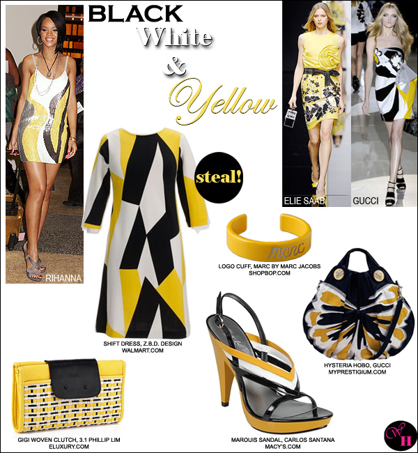 7898bdf1bcaa Haute Trend: Yellow, Black & White Fashion - What's Haute™