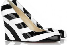 Christian Louboutin 'Sing Sing' Striped Wedges